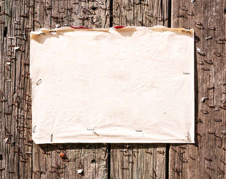 customisable: old note at a fence