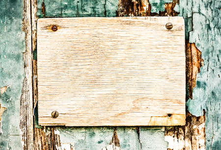 customisable: blank sign at a fence Stock Photo