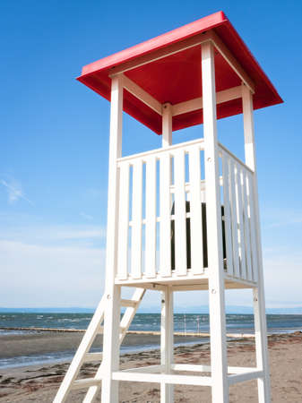 lookout tower at a beach photo