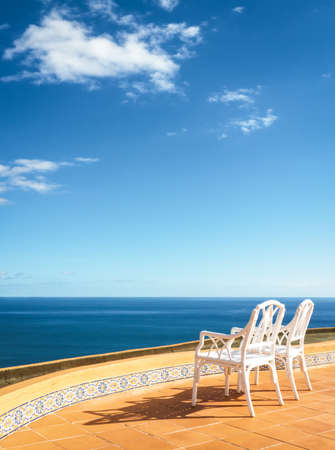 two chairs at a patio Stock Photo - 17376392