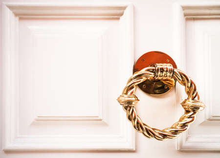 doorknocker at a front door Stock Photo - 17376373