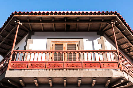 typical old wooden balcony at the canary islands Stock Photo - 17377699