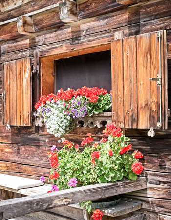 window at a typical old bavarian farmhouse Stock Photo - 17379673