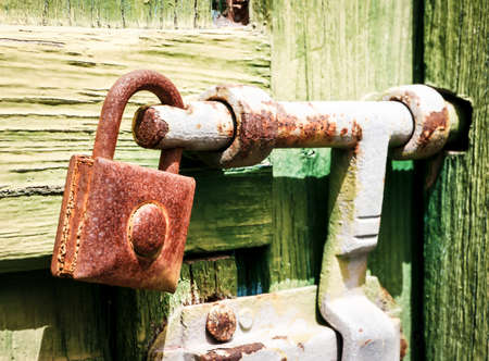 old lock at a stable - close-up photo
