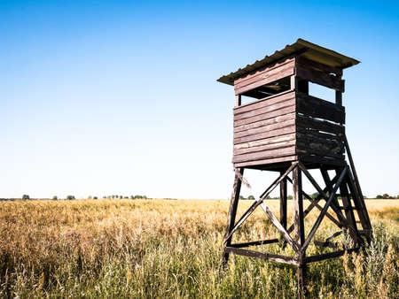observation: wildlife observation point - raised blind Stock Photo