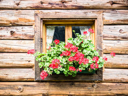 window at a typical old bavarian farmhouse Stock Photo - 17464070