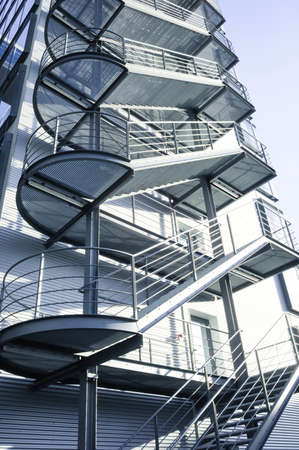 modern fire escape and staircase