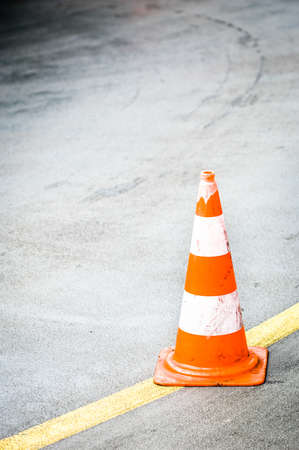 traffic cone with space for text Stock Photo - 17463897