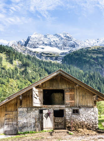 old farmhouse at the eng-alm - karwendel mountains Stock Photo - 17465397