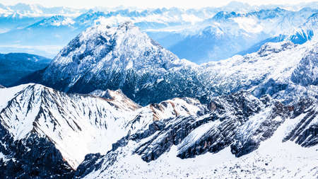european alps in winter - zugspitze