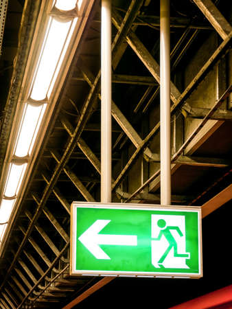 exit sign: modern emergency exit sign - photo