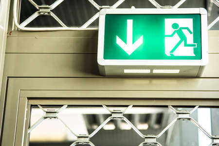 modern emergency exit sign - photo Stock Photo - 17596736