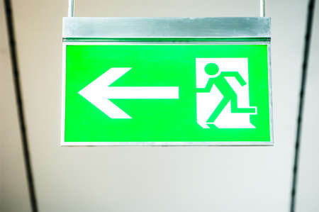 modern emergency exit sign - photo Stock Photo - 17596740