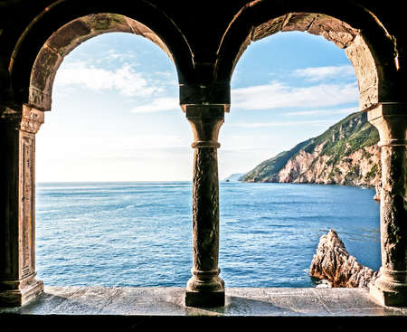 open window: beautiful view at portovenere - italy