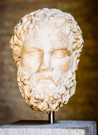 old statue of platon - close-up