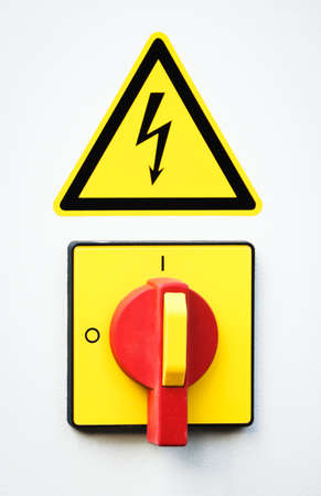 high voltage switch - close-up photo