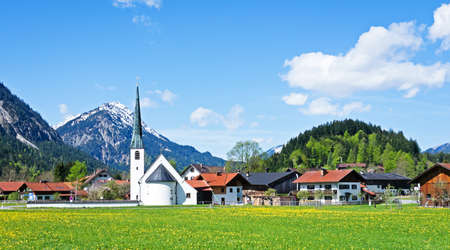 typical bavarian old town near rosenheim - germany Stock Photo