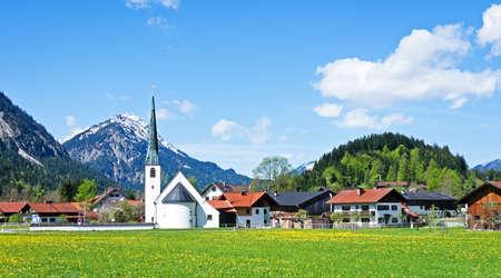typical bavarian old town near rosenheim - germany Stock Photo