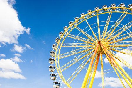 wheel spin: famous ferris wheel at the oktoberfest in munich - germany