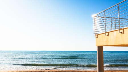 balcony at a beach in italy Stock Photo - 17680951