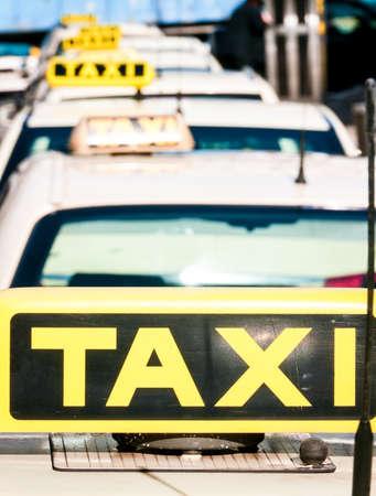 taxi signs at germany hamburg Stock Photo - 17680923