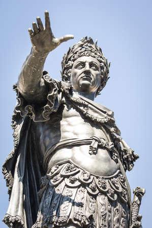 famous statue of augustus in augsburg Stockfoto