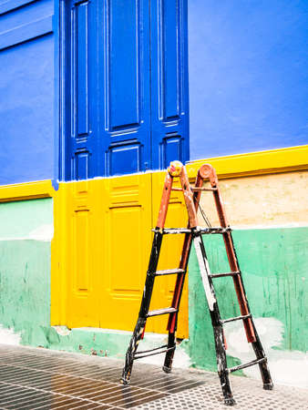 beautiful painted door at italy Stock Photo - 17681094
