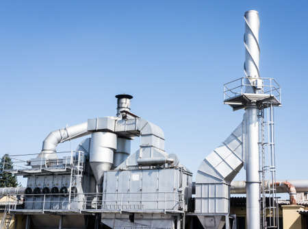 modern refinery building in italy