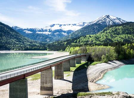 famous sylvenstein lake in bavaria - germany Stock Photo - 17743521