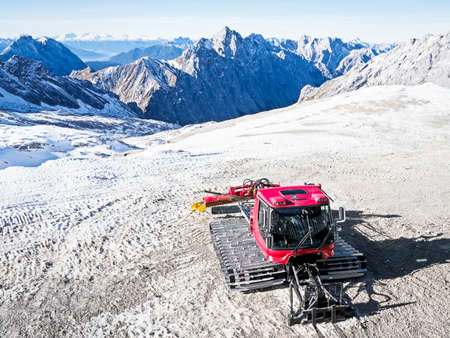 zugspitze mountain: snowcat at the zugspitze mountain in austria