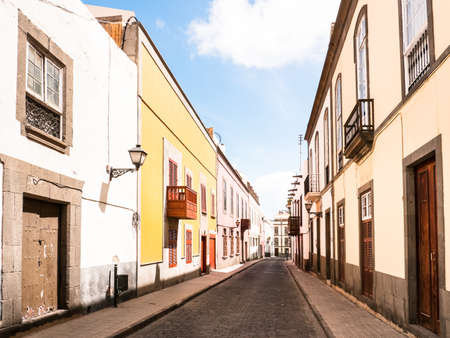 grand canary: street at the old town in las palmas (grand canary)