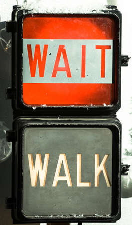 dont walk: Walk Dont walk Stock Photo