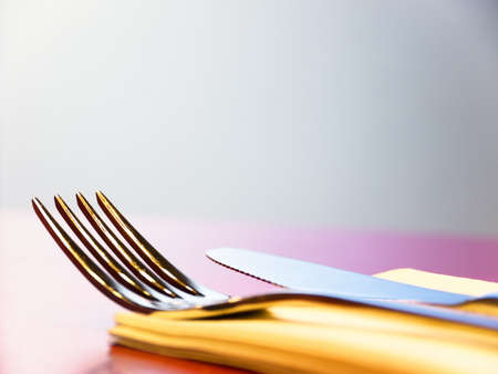 fork and knife - close-up with space for text Stock Photo - 17845823
