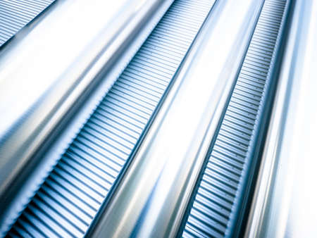 metal monochrome: steel wall at a fabric hall - nice abstract background Stock Photo