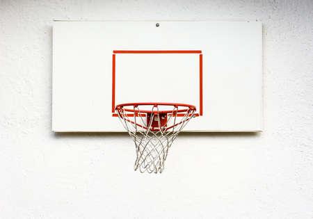 basketball hoop: basketball hoop at a backyard Stock Photo