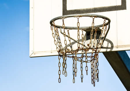 basketball hoop at a backyard photo