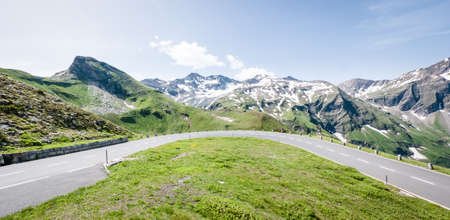 curve at the european alps Stock Photo - 17977934