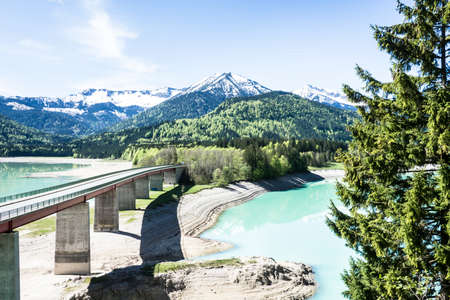 famous sylvenstein lake in bavaria - germany photo