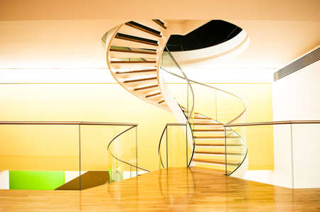 spiral staircase at a modern office building photo