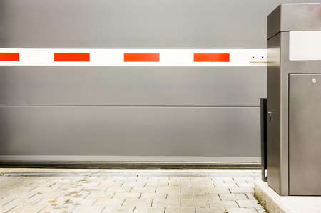security barrier at a garage Stock Photo