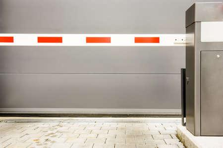 Sicherheitsbarriere in einer Garage