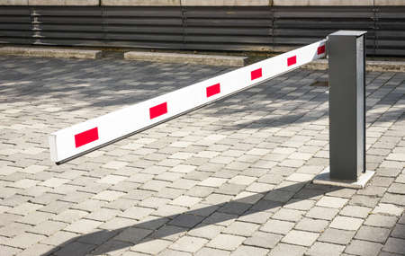 security barrier: security barrier at a garage Stock Photo