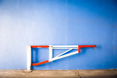 security barrier: modern security barrier at a garage - nice background