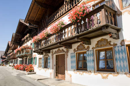 old town at garmisch partenkirchen - germany - bavaria