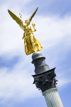 famous friedensengel in munich - germany - Bogenhausen - 1896 photo