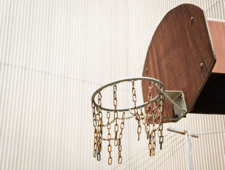 basketball hoop in front of wall photo
