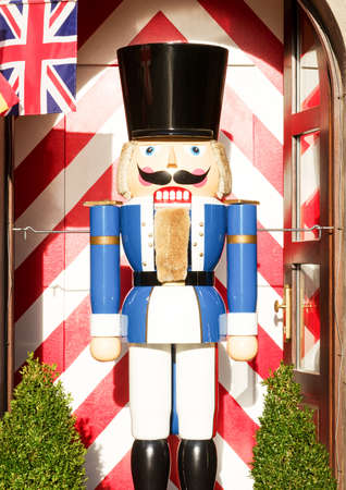 Typical Nutcracker wooden figure, which breaks the nuts using lever technology in its 'mouth '. photo