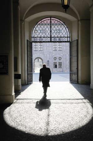 Tür an einem historischen Gebäude Standard-Bild