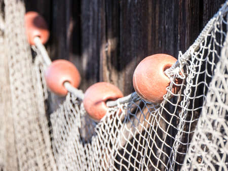 trawler net: fishing net at an old port in italy