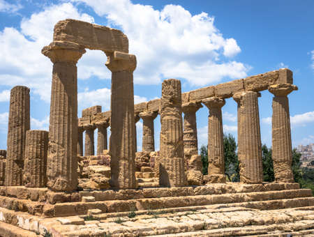 famous greek temple at agrigent - sicilia - italy photo